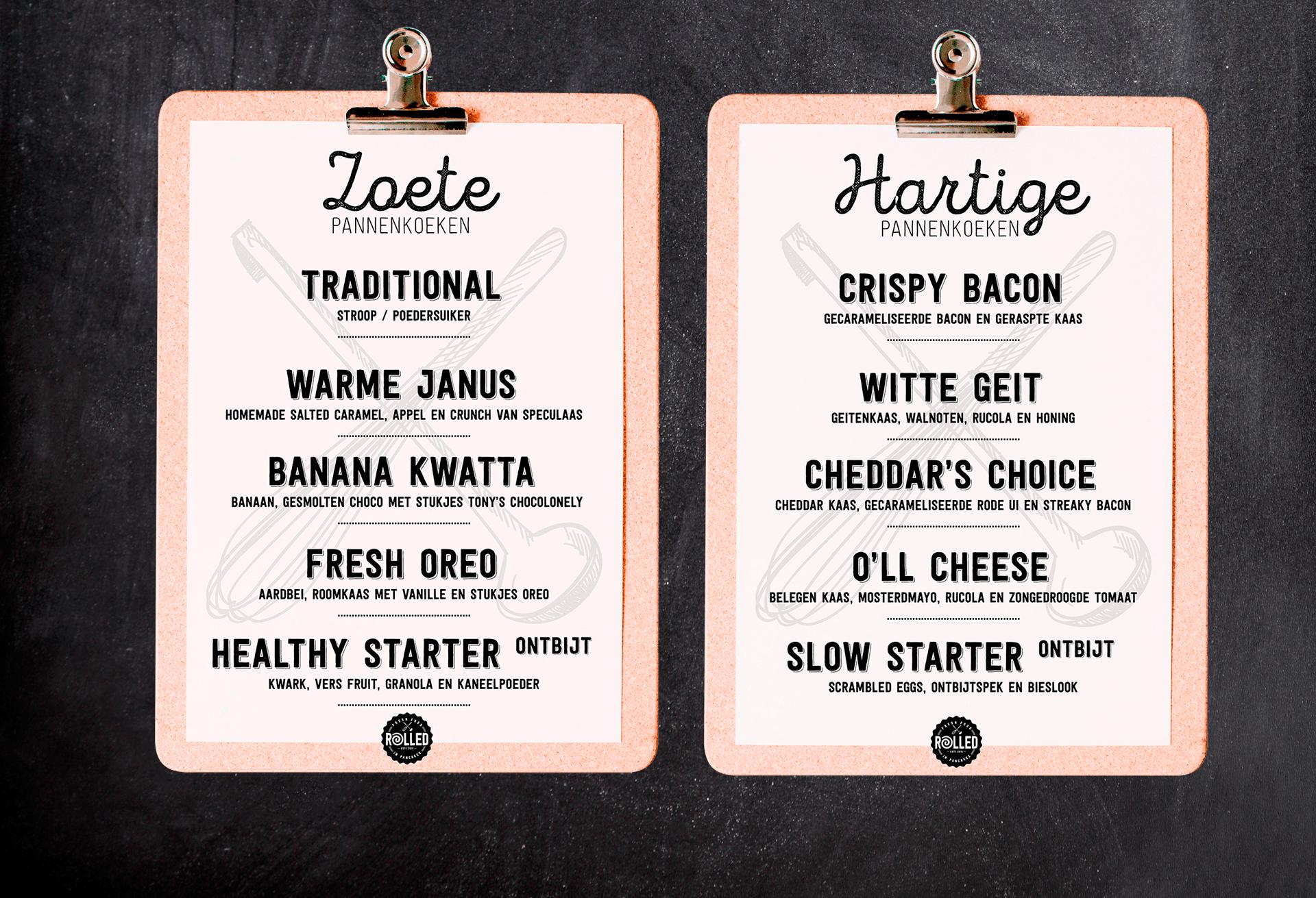 Rolled-menu